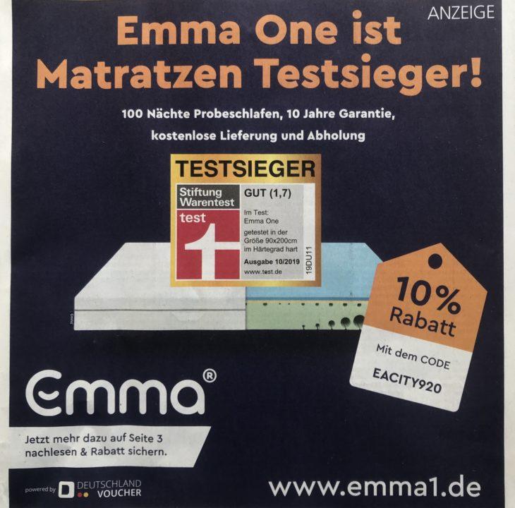 Emma Werbung 09 2020 IMG 4504 730x720 - Emma One