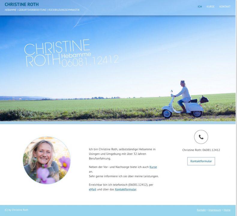 Projekt ChristineRoth Webpage 01 WebDesign 790x720 - webdesign